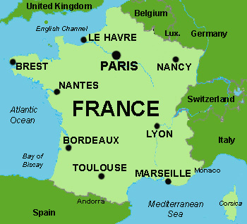 Map Of France In English.Basic Data Of France Infolaso Tables Of Statistical Data