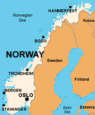 Basic Data Of Norway Infolaso Tables Of Statistical Data - Norway map in english