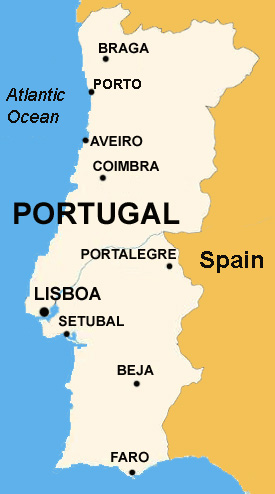 Basic Data Of Portugal Infolaso Tables Of Statistical Data - Portugal map english
