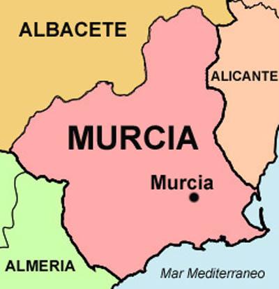 Mapa cartagena murcia españa